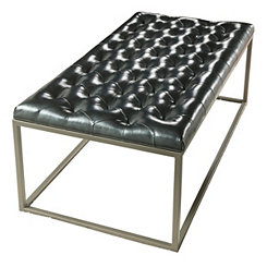 Glenda Black Faux Leather Coffee Table
