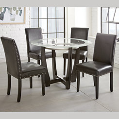 Verano Glass Top Round Dining Table