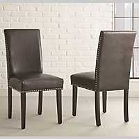 Verano Black Parsons Chairs, Set of 2