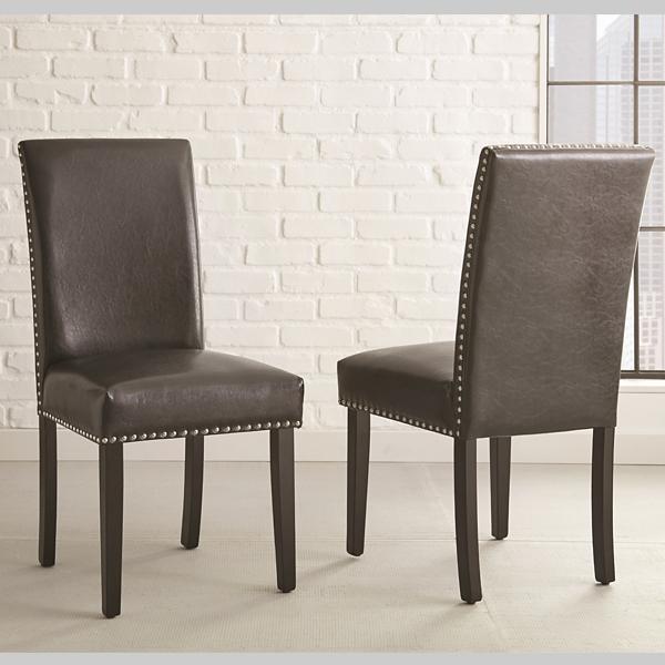 Verano Black Parsons Chairs, Set Of 2