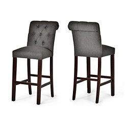 Benson Tufted Back Bar Stools, Set of 2
