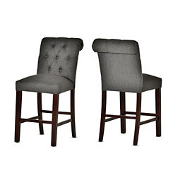 Benson Tufted Back Counter Stools, Set of 2