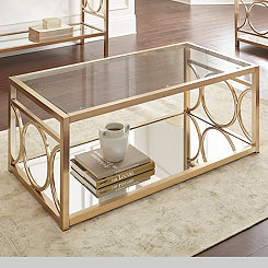 Olympia Gold Chrome Coffee Table