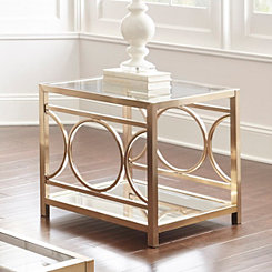 Olympia Gold Chrome Accent Table