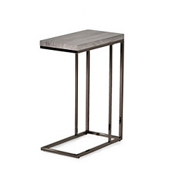 Lucia Nickel Chairside Table