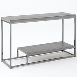 Lucia Nickel Console Table