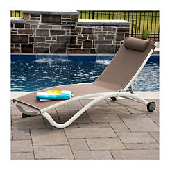 Macchiato Aluminum 4 Position Pool Lounger