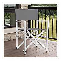 Dark Gray Aluminum Folding Director's Chair