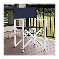 Navy Aluminum Folding Director's Chair