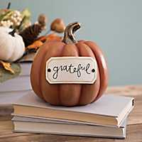Grateful Tag Orange Pumpkin