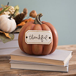 Thankful Tag Orange Pumpkin