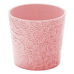 Blush Lace Floral Planter