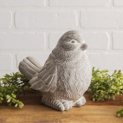 Cement Bird Figurine