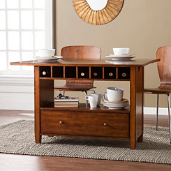 Dark Oak Convertible Dining and Console Table