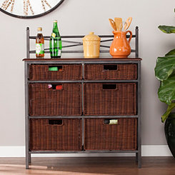 Farmhouse 6-Basket Storage Chest
