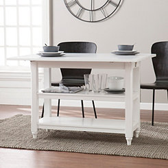 White Convertible Dining and Console Table