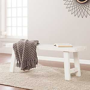 White Farmhouse Style Bench