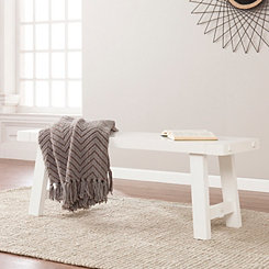 White Farmhouse Style Bench