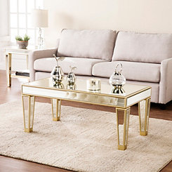 Megan Mirrored Metallic Champagne Coffee Table