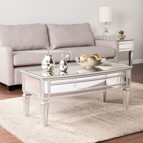 Rosie Mirrored Silver Coffee Table