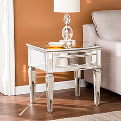 Rosie Mirrored Silver Accent Table