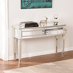 Rosie Mirrored Silver Console Table