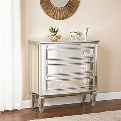Rosie Mirrored Silver Storage Chest