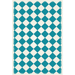 Teal Diamond Indoor/Outdoor Area Rug, 4x6
