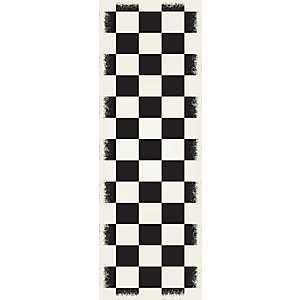 Black Checkerboard Indoor/Outdoor Runner