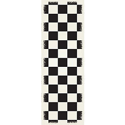 Black Checkerboard Indoor/Outdoor Runner