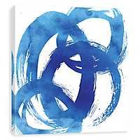 Blue Swoosh Canvas Art Print