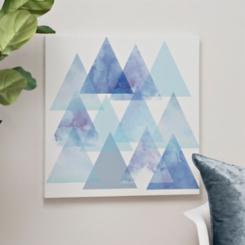 Blue Triangles Canvas Art Print