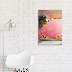 Pink Rounds Embellished Canvas Art Print