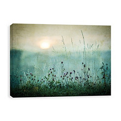 Silver Metallic Autumn Sunrise Canvas Art Print