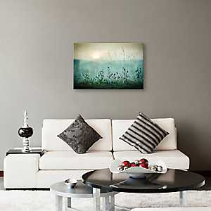 Silver Metallic Autumn Sunrise Canvas Art Print
