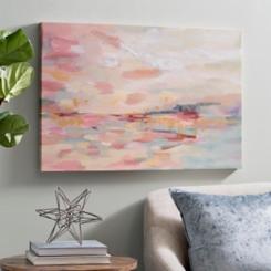 Pink Waves Canvas Art Print