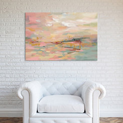 Pink Waves Canvas Art Print
