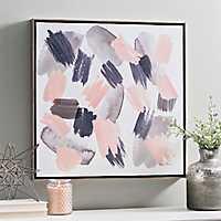 Gray Pink Mist Framed Canvas Art Print