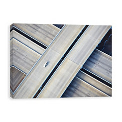 Aerial Freeway Canvas Art Print