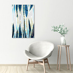Blue Algae Embellished Canvas Art Print