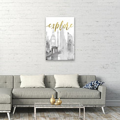 Explore Hand Embellished Canvas Art Print