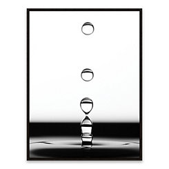 Drops II Framed Canvas Art Print
