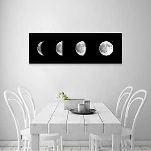 Moon Phases Coated Embellished Canvas Art Print