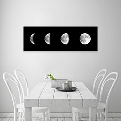 Moon Phases Coated Embellished Canvas Art Print