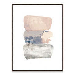 Abstract Watercolor Framed Canvas Art Print