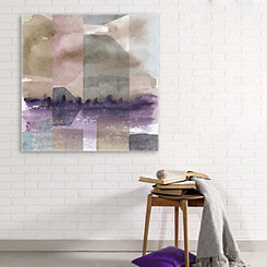 Abstract Cubed Watercolor Canvas Art Print