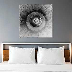 Abstract Circular and Striped Canvas Art Print