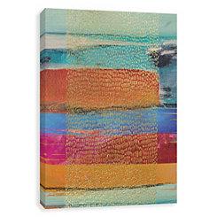 Golden Rain Embellished Canvas Art Print