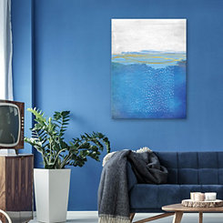 Blue Gold Abstract Canvas Art Print
