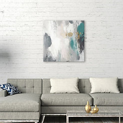 Teal Gray Days Canvas Art Print